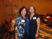 From left: JoAnn Miller of Wells Fargo Bank and Rebecca Gage of G&L Installations Inc.