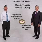 From left:Clay Williams, Executive vice president and CFO and Steve Solcher, Senior vice president and CFO.