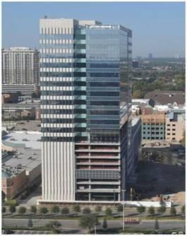 BBVA Compass is paying a Dallas construction company about $13.5 million  for the build out of its new corporate tower in the Galleria area,  construction permits show.