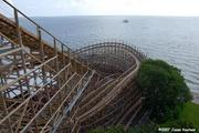The Boardwalk Bullet is the only wooden coaster on the Texas Gulf Coast.