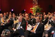 The crowd listens to the discussion at The Houston Energy Forum.