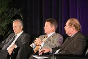 From left: Panelists Bobby Tudor of Tudor, Pickering, Holt & Co.; Floyd Wilson of Halcon Resources Corp.; and John Felmy of API