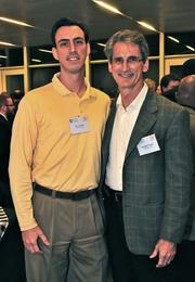 B.J. Farmer, left, CEO of No. 33 Citoc Inc., with his dad, Ron Farmer, CEO of No. 8 US LED Ltd.
