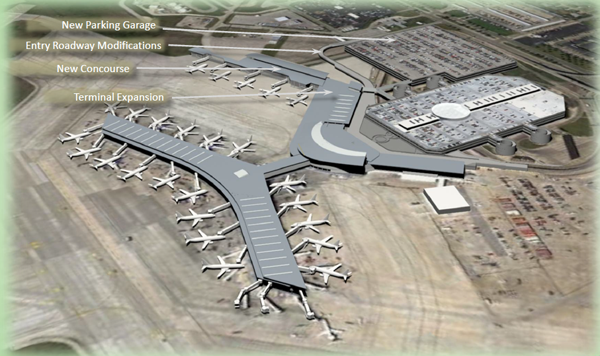 A rendering of Hobby Airport's international expansion.