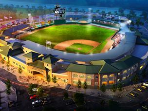 A rendering of the Sugar Land Skeeters' Constellation Field, a $35-million ballpark located at the intersection of State Highway 6 and U.S. Highway 90A.