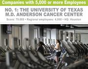 M.D. Anderson Cancer Center boasts the largest fitness center in the Texas Medical Center.