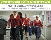 Verizon Wireless  employees enjoy a new walking path.