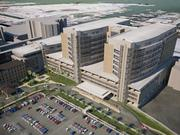 The proposed 13-story twin towers of the Jennie Sealy Hospital.The towers will feature 250 rooms and 20 operating suites.