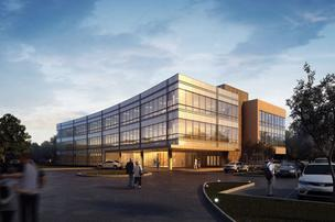 Rendering of Warmack Investments' three-story spec building that will break ground in the first quarter of 2011.