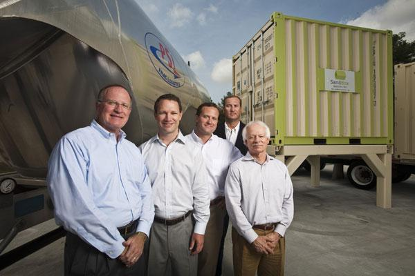 John Oren, president of PSI, left, with company partners John Puckett, Josh Oren, Matt Oren and Rick McCormick