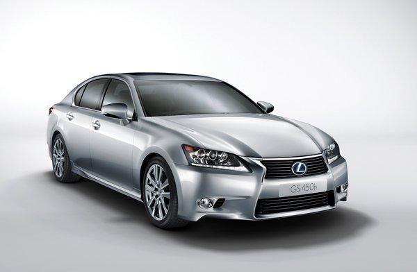 The Lexus GS450h hybrid.