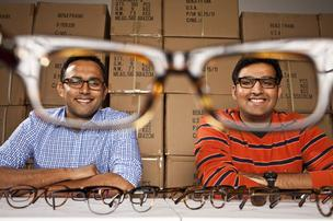 Mohsin Momin, left, and Azim Karedia of Benji Frank eyeglasses.