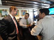 After lunch, Coonrod runs into brokers Andy Iverson and Noah Kruger at the restaurant. Both work for Jackson Cooksey and were representing tenants in The Woodlands.