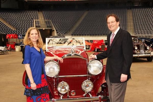 From left: Lolly Becker and Clay Becker, chairman of the Classy Chassis Concours d'Elegance