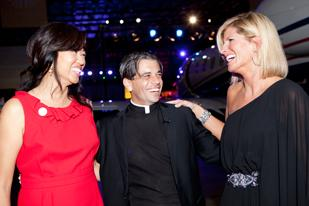 Gala Chair Carol Beck, Cristo Rey President T.J. Martinez and Gala Chair Penny Grams at the Defying Gravity Gala which grossed $1.8 million for the Cristo Rey Jesuit College Preparatory School of Houston.