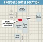 Two finalists set for downtown hotel project