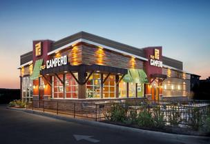 Pollo Campero is set to roll out its first new ly designed restaurant in Webster, shown in this rendering.