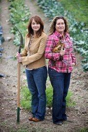 Business partners Stephanie Scherzer (left),  and Elizabeth Winslow of Farmhouse Delivery