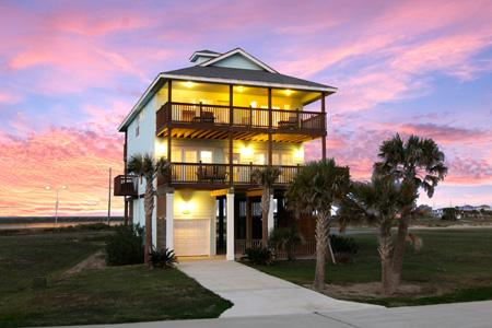 This 2,280-square-foot home is located in West Pointe on Galveston's West End. It has a listing price of $415,000.