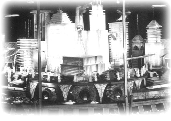 Foley's 'Houston 2000' panorama was created as the retailer's vision of the future.