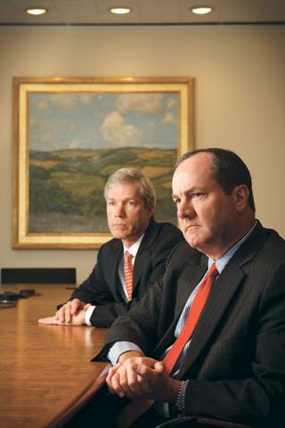 Alan Patton, left, will lead Hines into multifamily development, with Jeff Hines, president and CEO.