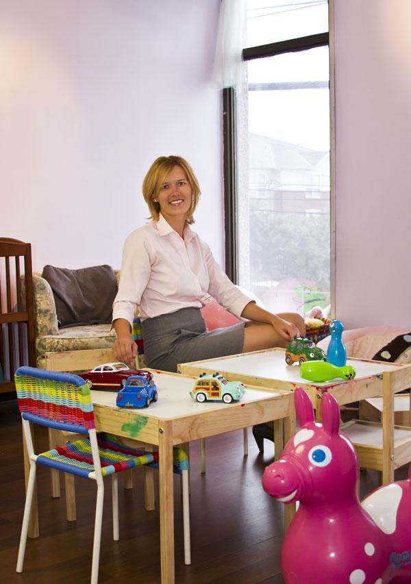 Gabriela Gerhart, president of the Motherhood Center: 'I saw a need for this concept -- there was really nothing like it here.'