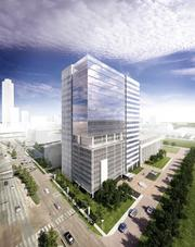 The BBVA Compass building at 2200 Post Oak Blvd. is the first new office construction in 10 years in the Galleria.