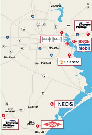 Thousands of jobs have been proposed in the Houston area from recently announced plants and expansions from chemical companies such as Irving-based Celanese Corp. and The Dow Chemical Co.