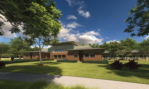The new complex will include three patient care buildings with a combined total of 120 beds.