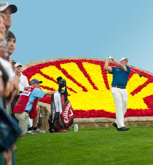 Phil Mickelson in action at the 2011 Shell Houston Open.