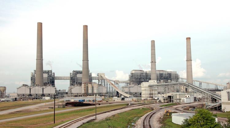 NRG's coal-fired units at its WA Parish plant in Fort Bend County. There are also four gas units and a gas turbine at the plant.