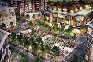GID Development envisioned Regent Square as a place for people to gather for events, as shown in this 2007 rendering.