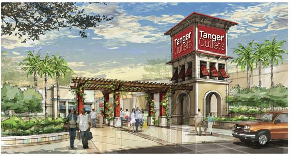 The Tanger Outlets-Texas City are expected to open by the end of the year. The 350,000-square-foot shopping center is a joint venture between Simon Property Group Inc. and Tanger Factory Outlet Centers Inc.