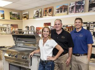 Partners Katherine Douglass, Rob Douglass, president, and Steven Schell of Texas Custom Patios.