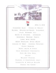 The last first-class menu served on the Titanic. Provided by the Houston Museum of Natural Science.