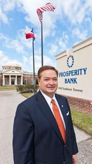 Zalman is CEO and chairman of Houston-based Prosperity Bank and has been in the banking industry for 34 years. Prosperity Bank has 56 locations.