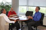 Cella has two afternoon meetings. The first is a compensation committee meeting with Greg Wagner, vice president of human resources, and Steve Rugeley, compensation manager. After the first meeting, Cella meets alone with Wagner to discuss the company's human resource activities.
