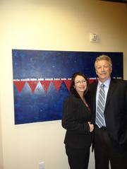 Clover Global Solutions' President and Managing Partner Carolyn Ortega-Sutton and Chris Sutton, partner.