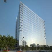 Rendering of the completed building, designed by Houston-based Kirksey. The building will have 12 stories with 302,000 square feet of office space on top of eight levels of parking and should be completed by mid-2013.