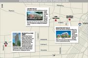 A map of the several projects under construction or planned in the Galleria/Uptown area.