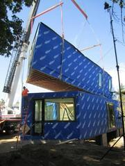 """A """"before"""" shot of the modules being installed on the site in September."""