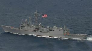 The guided-missile frigate USS Samuel B. Roberts, which is based at Naval Station Mayport