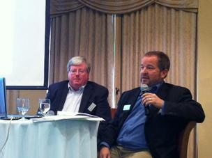 The LBA Group Partner Billy Morrow (right) and Principal John Reynolds provided strategies during a tax forum Dec. 5.