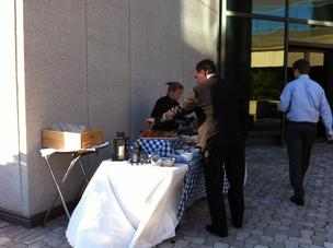 The Oktoberfest event at the BB&T tower terrace include Bavarian style food.  Click through the photos to see more from the event.