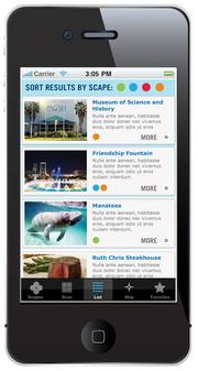 The RiverWalk Project interactive smartphone app has four components: health; environment; arts and entertainment; and history.