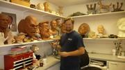 Russell Hall is a sculptor at Sally Corp.