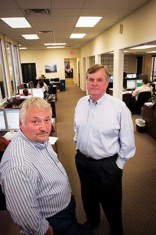 Eleets CEO Allen Steele and president Thomas Shurstad at the company's southside headquarters in 2010.