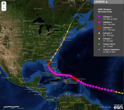 No. 9 Hurricane Donna - 1960 Category - 4Damage in 1960 - $387 millionEstimates damage today - $29.6 billionDeaths - 164