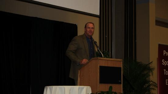 Jacksonville Jaguars' head coach Mike Mularkey at the NEFBA monthly breakfast June 8.