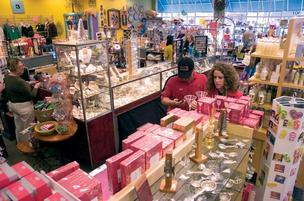 Shoppers explore Artsy Abode at St. Johns Town Center. The store opened in March 2005.